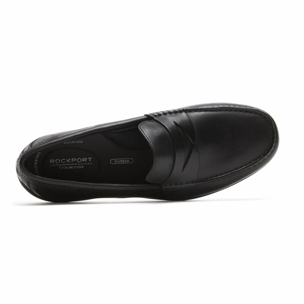 Rockport Men TOTAL MOTION PENNY LOAFER BLACK/LEATHER