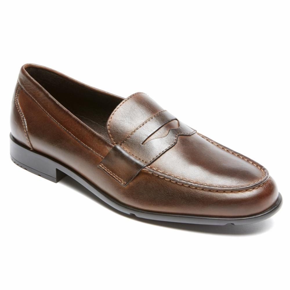 Rockport Men CLASSIC LOAFER LITE PENNY DARK BROWN