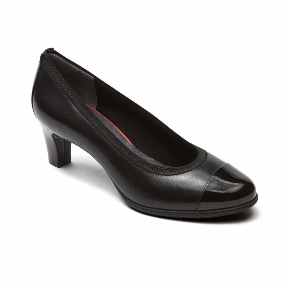 Rockport Women TOTAL MOTION MELORA GORE CAPTOE BLACK/BURN CALF