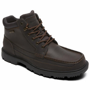 Rockport Men REDEMPTION ROAD MOC TOE BOOT DARK BROWN