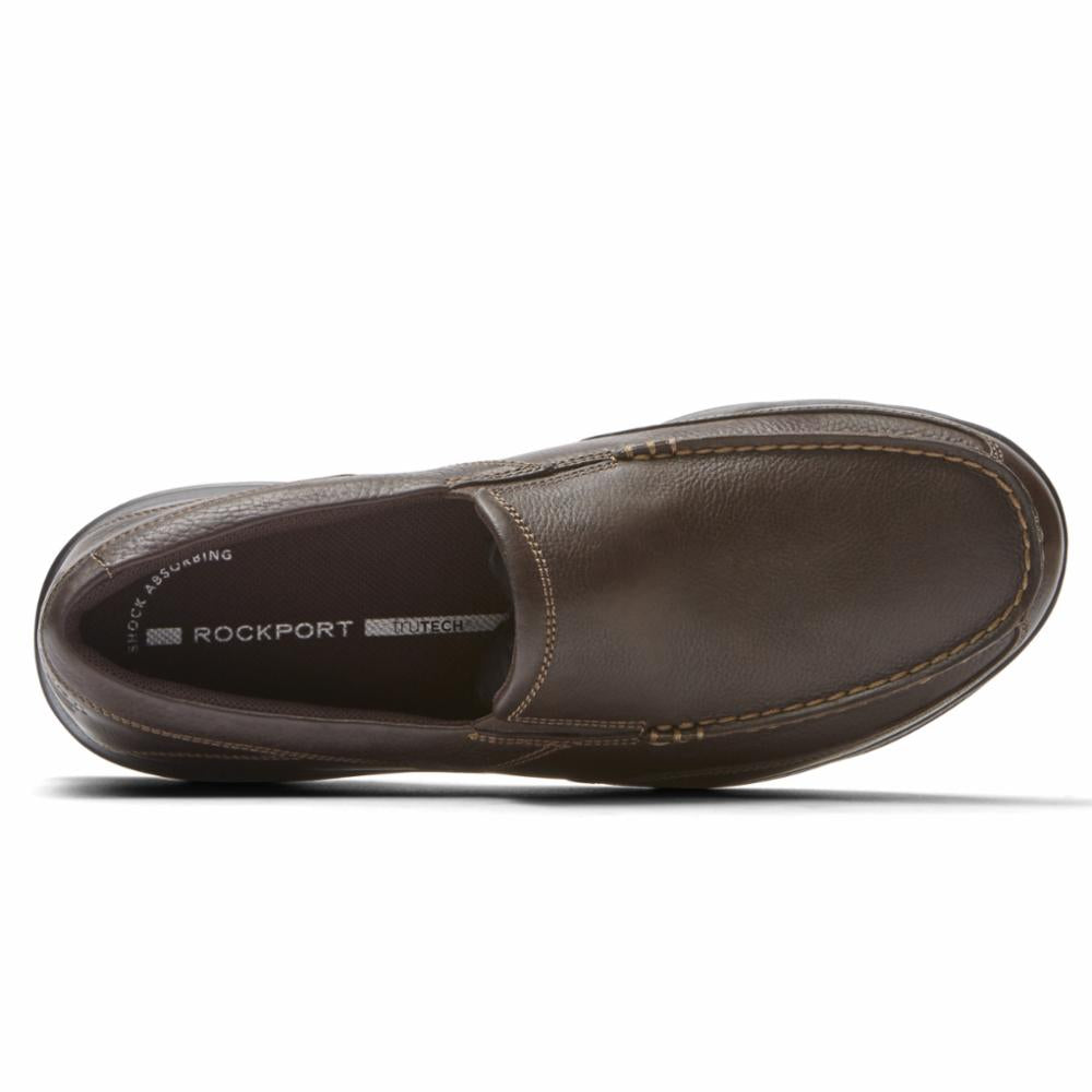 Rockport Men CITY PLAY TWO SLIP ON BROWN