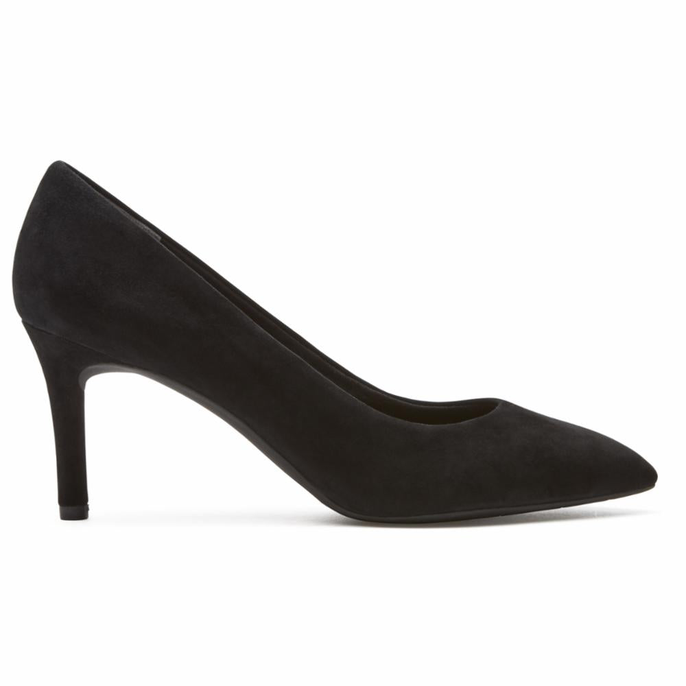 Rockport Women TOTAL MOTION 75mmPTH PLAIN PUMP BLACK/KID SUEDE