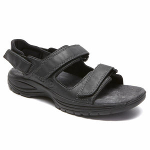 Dunham NEWPORT ST JOHNSBURY ADUSTABLE SANDAL BLACK