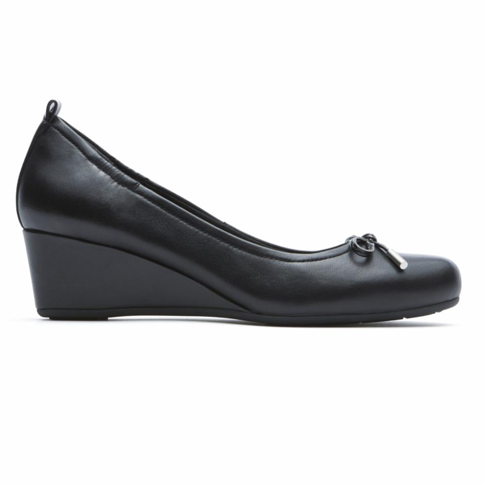 Rockport Women TOTAL MOTION 45MW TIED PUMP BLACK/NAPPA