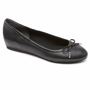 Rockport Women TOTAL MOTION HW20 TIED BALLET BLACK/NAPPA