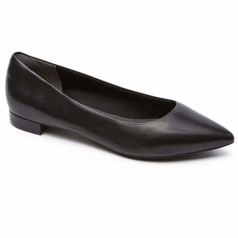 Rockport Women TOTAL MOTION ADELYN BALLET BLACK/BURN CALF