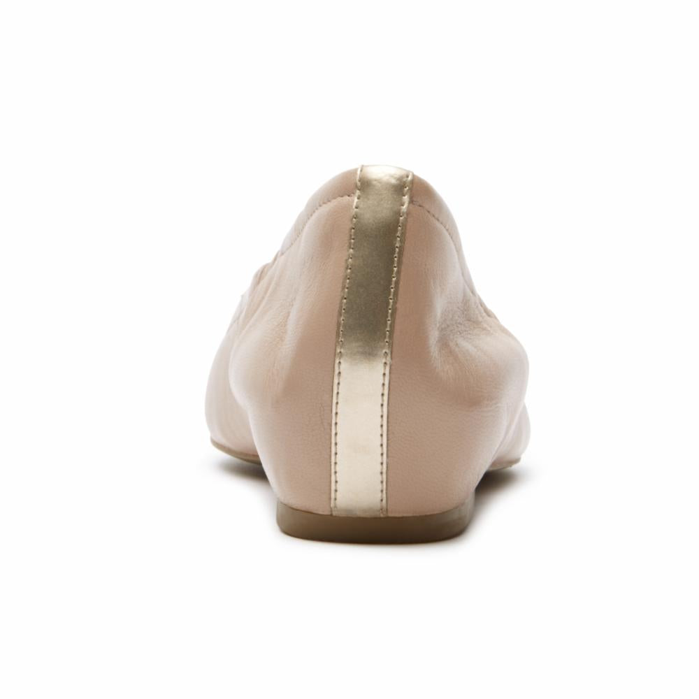 Rockport Women TOTAL MOTION HW20 TIED BALLET W TAUPE/NAPPA
