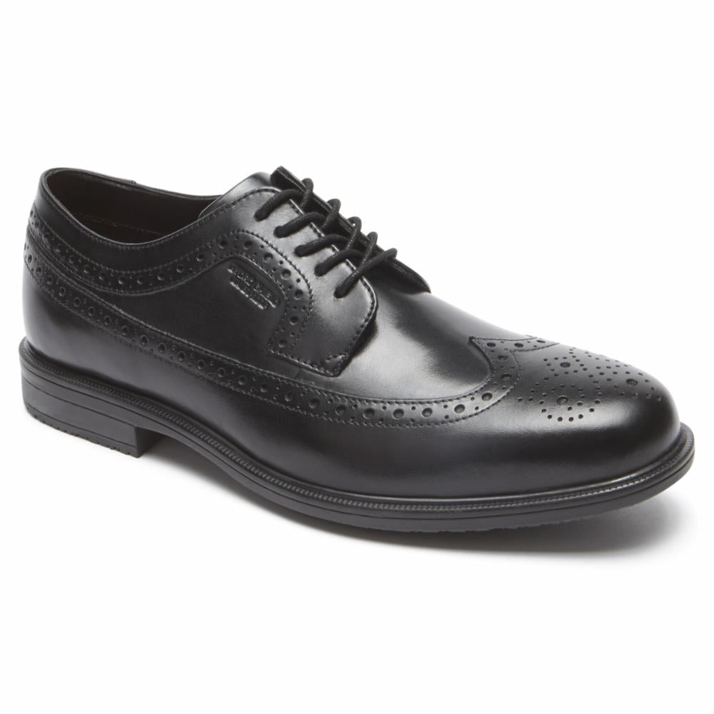 Rockport Men ESSENTIAL DETAILS II WING TIP BLACK/LEATHER
