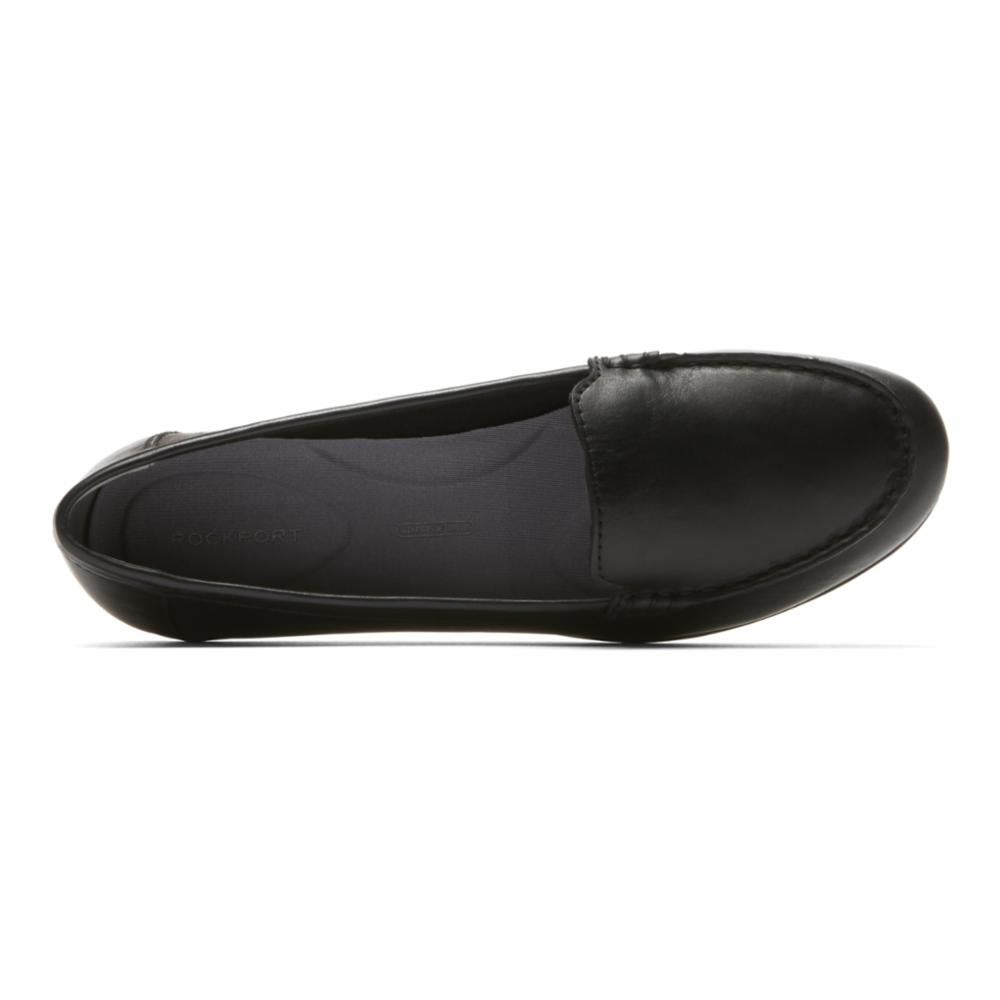 Rockport Women DEMISA II PLAIN MOC BLACK/LEATHER