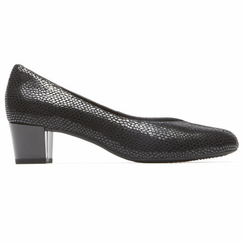 Rockport Women TOTAL MOTION CHARISSE CHARIS BLACK/MAMBA SNAKE