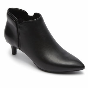 Rockport Women TOTAL MOTION KALILA PIPING BOOTIE BLACK/LEATHER
