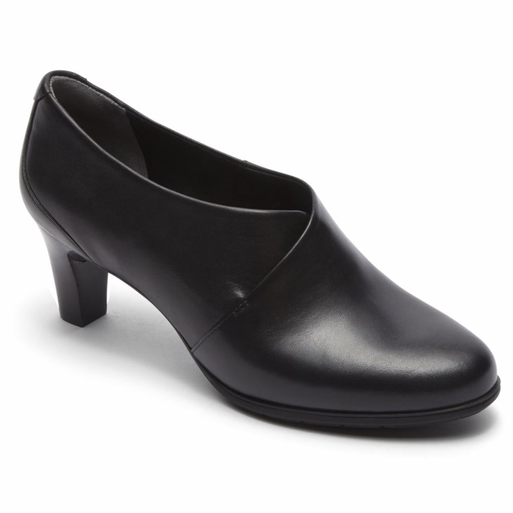 Rockport Women TOTAL MOTION MELORA SHOOTIE BLACK/LEATHER