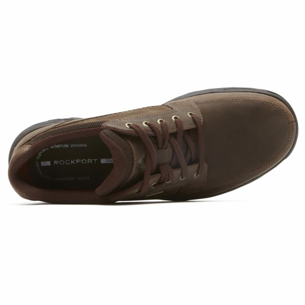 Rockport Men TRAIL TECHNIQUE WP CHUKKA DARK BROWN