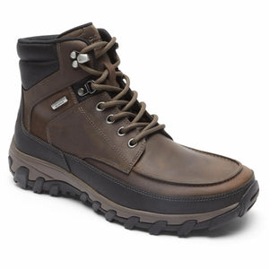 Rockport Men COLD SPRINGS PLUS MOC TOE BOOT BROWN