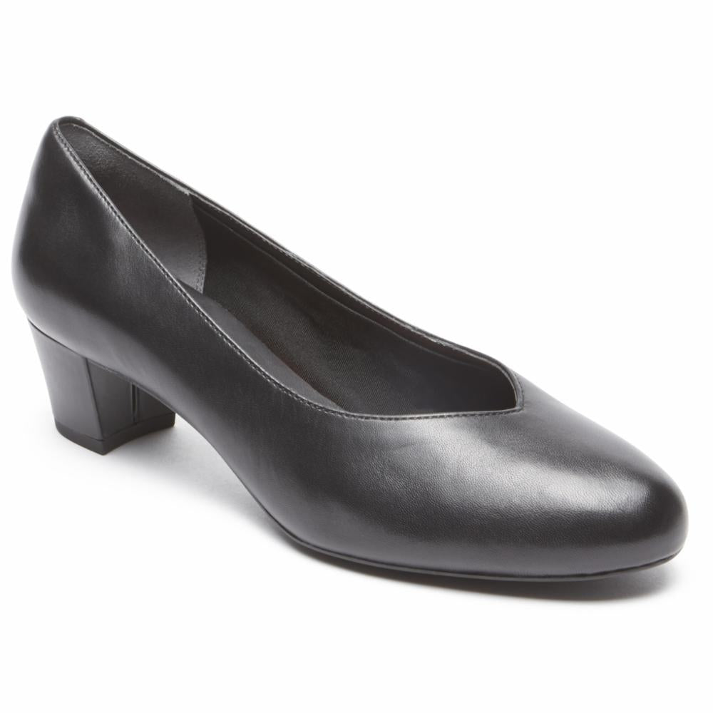 Rockport Women TOTAL MOTION CHARISSE CHARIS BLACK/LEATHER