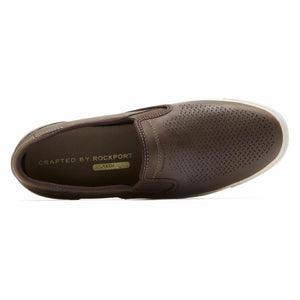 Rockport Men PATH TO GREATNESS SLIPON W/O PERFS DK BITTER CHOCOLATE