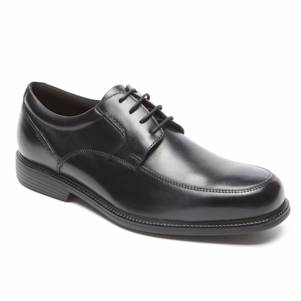 Rockport Men CHARLES ROAD APRON TOE BLACK
