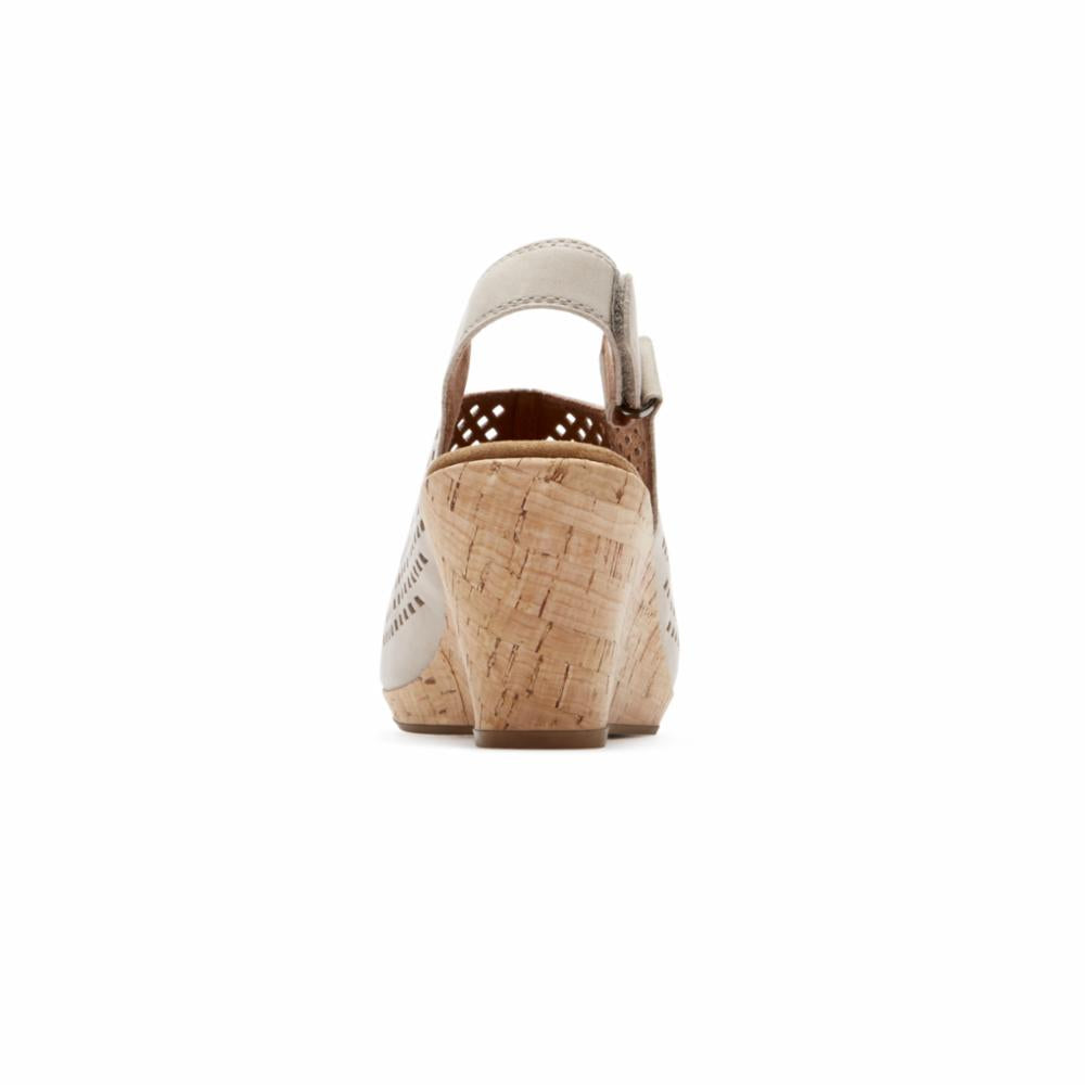 Rockport Women BRIAH PERF SLING TAUPE/LEATHER