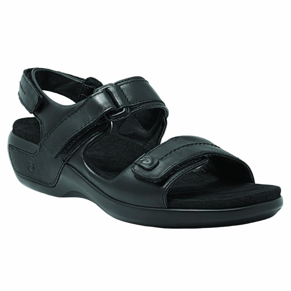 Aravon POWER COMFORT SANDALS KATY BLACK