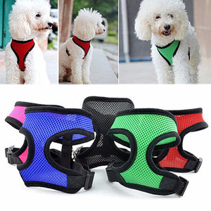 Dog Collars Harness Pets Mesh Vest For Small Dogs
