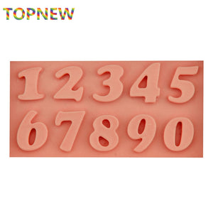 Numbers Fondant/Modeling Chocolate/Candy Silicone Mould