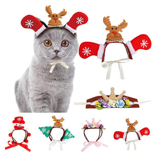 Dogs Cats Headdresses For Christmas And Halloween