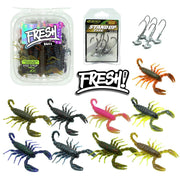 Fresh Baitz-Scorpion Sampler Pack-Soft Plastics