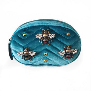 PEARL BEE VELVET BELT BAG