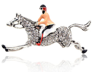 JOCKEY & HORSE BROOCH