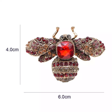 Load image into Gallery viewer, CRYSTAL ENCRUSTED BEE BROOCH (SMALL)
