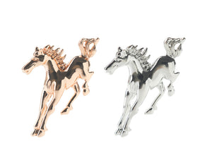 Silver  or Gold horse brooch
