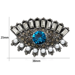 EVIL EYE PROTECTION BROOCH