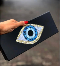 Load image into Gallery viewer, EVIL EYE PROTECTION GLITTER EYE BAG