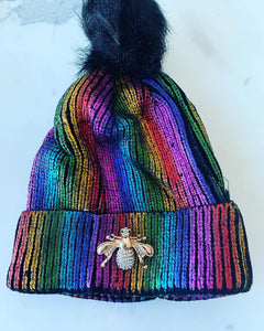 KID'S GOLD METALLIC BEANIE
