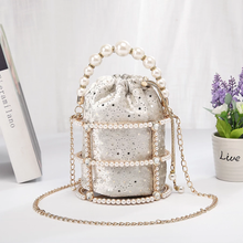 Load image into Gallery viewer, JULIETTE VELVET PEARL HANDBAG   Sold out Pre order