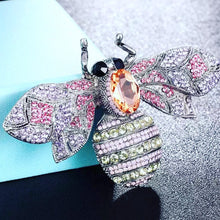 Load image into Gallery viewer, RHINESTONE BEE PIN BROOCH