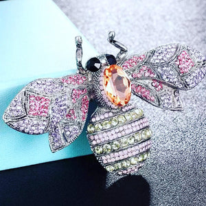 RHINESTONE BEE PIN BROOCH