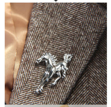 Load image into Gallery viewer, Silver  or Gold horse brooch