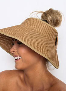 AUDREY ROLL UP SUN HAT WITH BLING