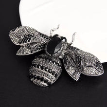Load image into Gallery viewer, CRYSTAL ENCRUSTED BEE BROOCH (LARGE 10cm x 6.2cm)