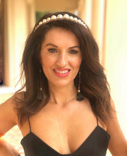Load image into Gallery viewer, 'JENNIFER' PEARL & CRYSTAL HEADBAND
