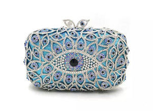 'CRISOULA' EVIL EYE PROTECTION CRYSTAL CLUTCH