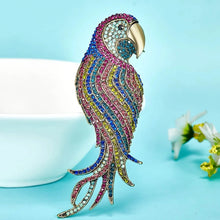 Load image into Gallery viewer, RHINESTONE PARROT BROOCH