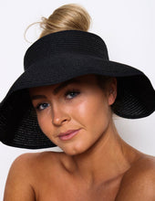 Load image into Gallery viewer, AUDREY ROLL UP SUN HAT WITH BLING
