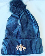 Load image into Gallery viewer, KID'S GOLD METALLIC BEANIE