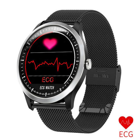JM ECG Smartwatch with Blood Pressure Monitor Heart Rate Monitor