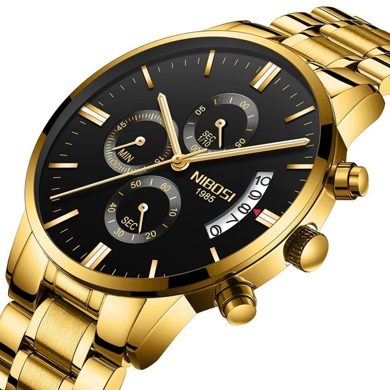 Men's Luxury Gold Quartz Watch