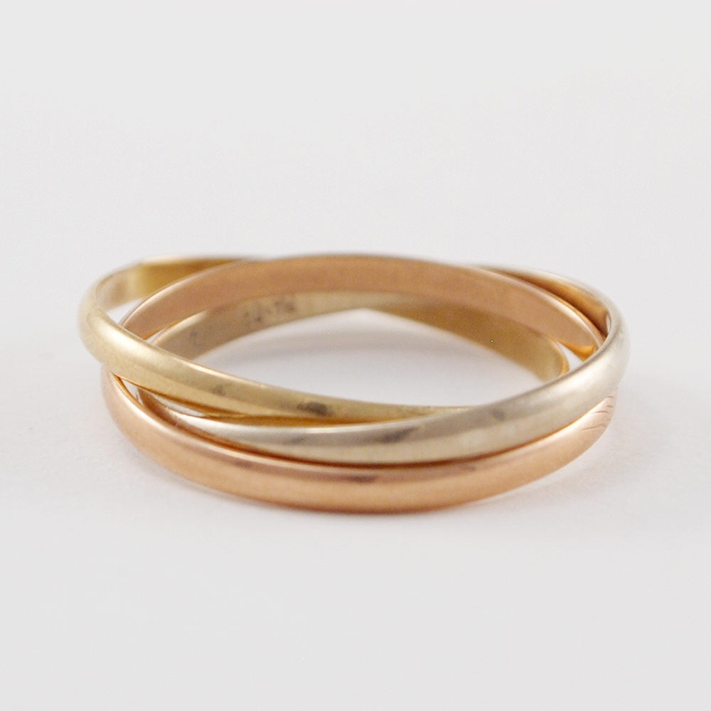 "14k Gold Scandinavian ""Kolmi"" Ring - Sold - Hopea"