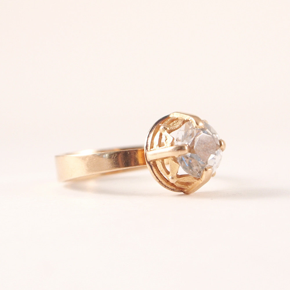 "14k Gold Finnish ""Lehti"" Ring - Sold - Hopea"