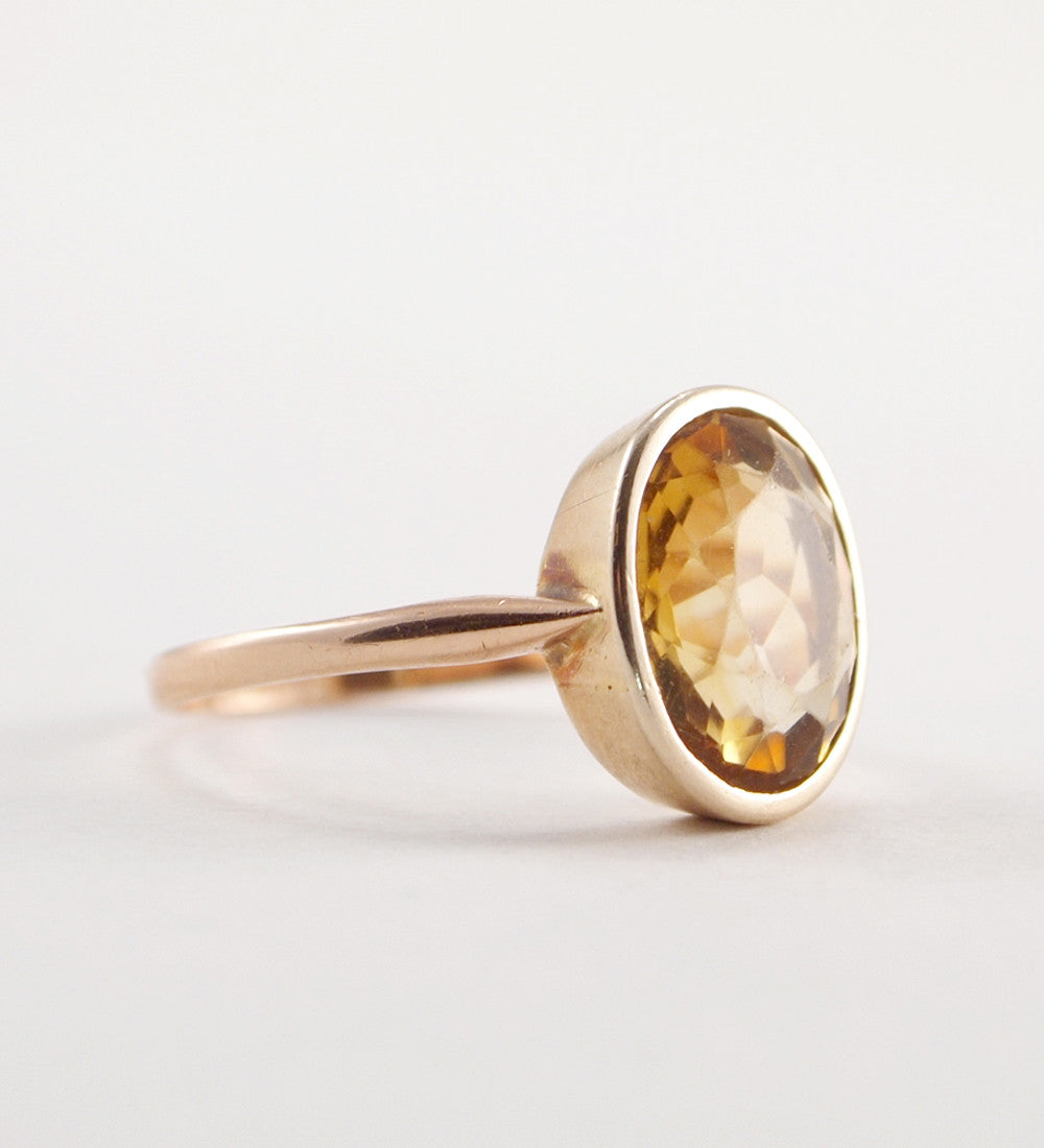 "14k Gold Finnish ""Sitriini"" Ring - Sold - Hopea"